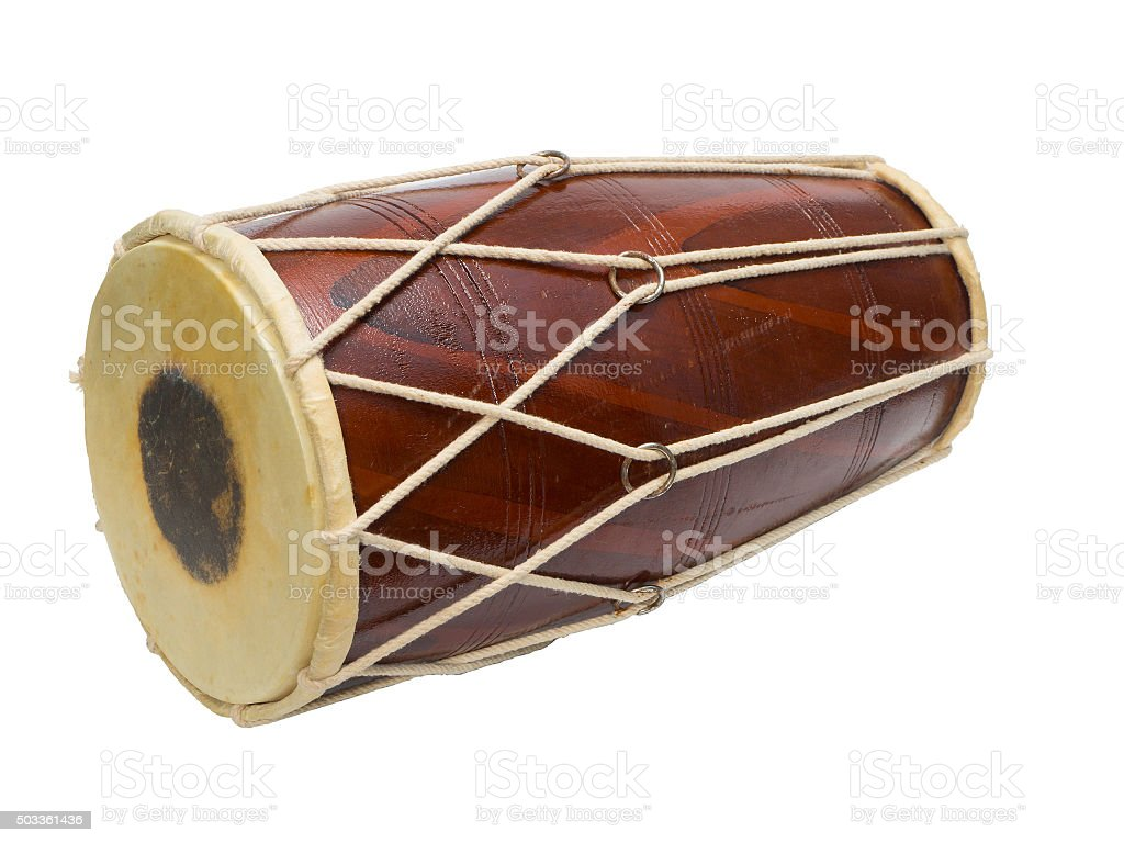 Traditional Indian drum stock photo