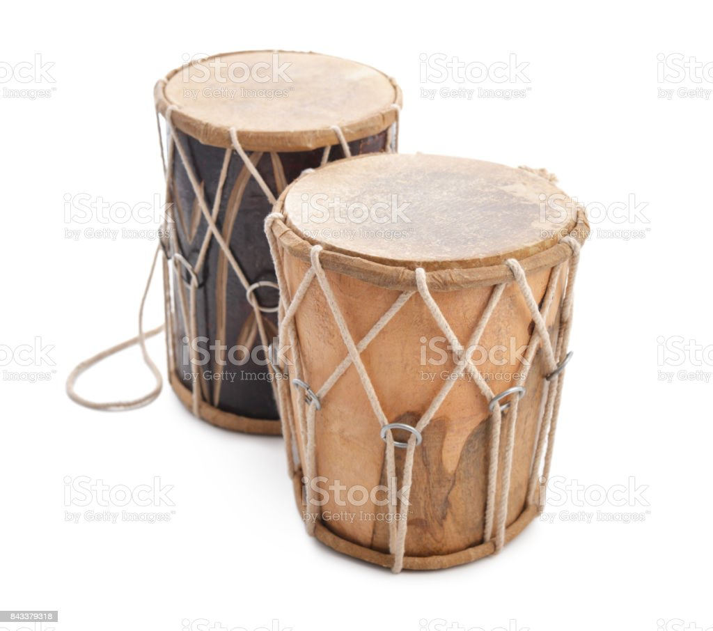 Traditional Indian drums stock photo