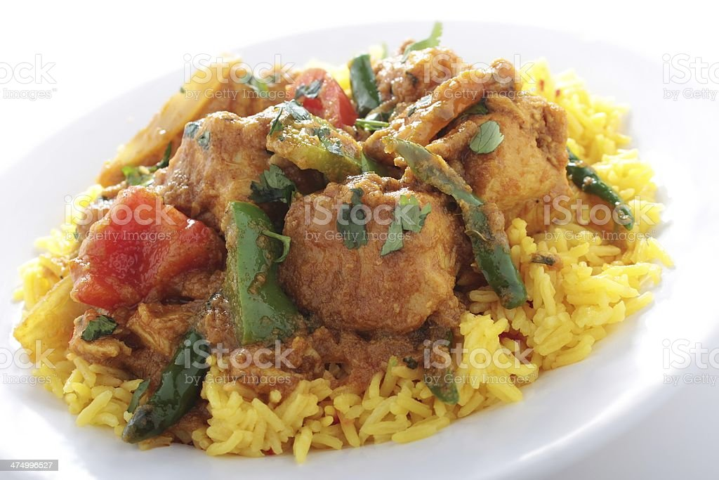 Traditional Indian jalfrezzi curry stock photo