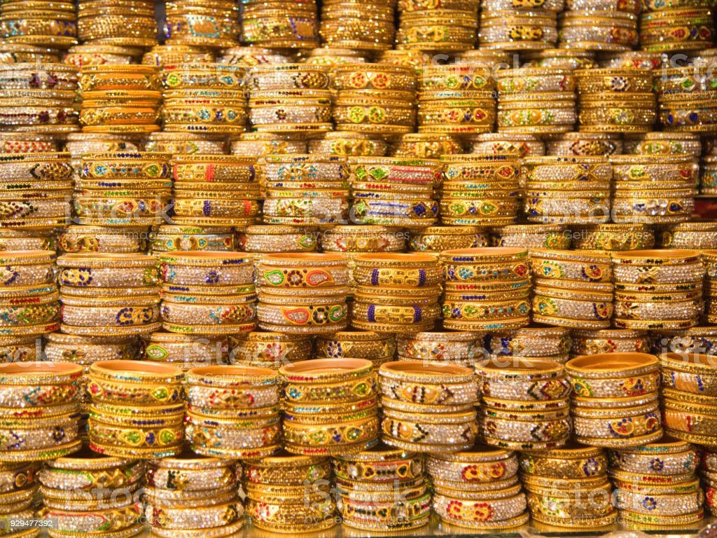 Traditional Indian jewelry stock photo