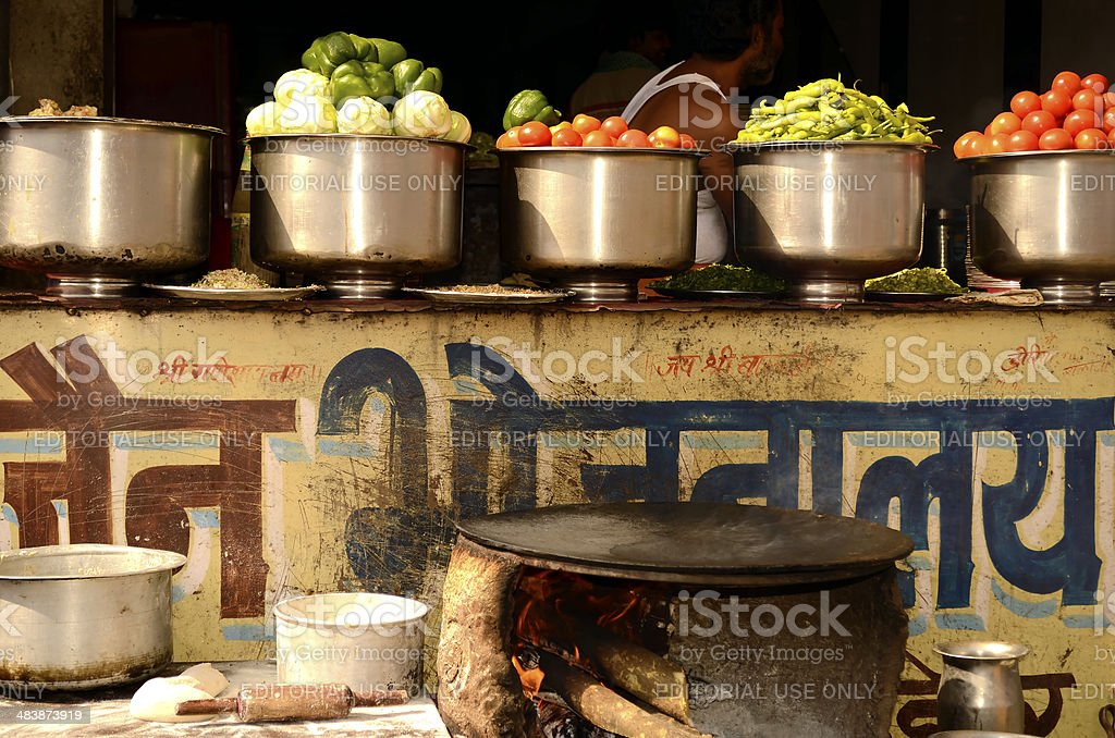 Traditional Indian Restaurant(Dhaba) stock photo