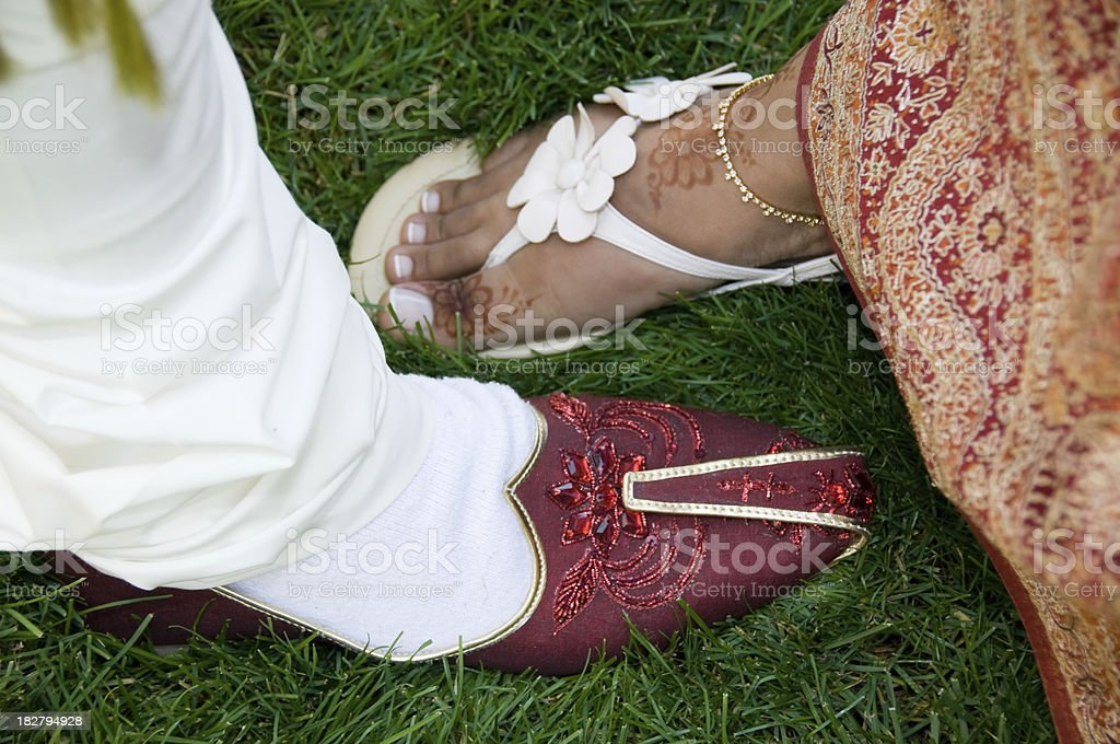 traditional Indian shoes royalty-free stock photo