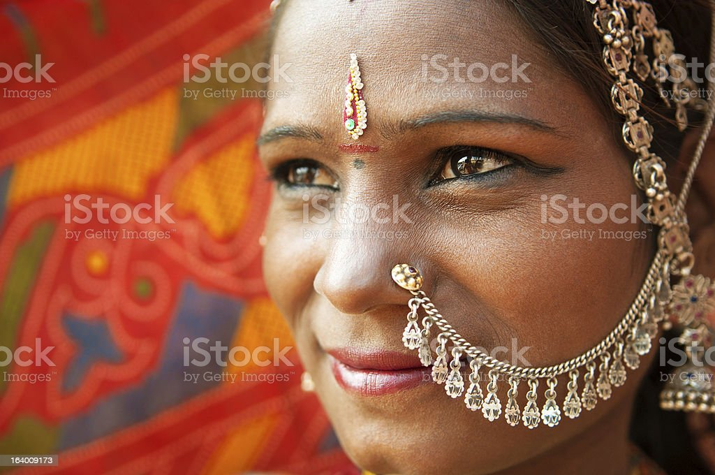Traditional Indian woman closeup royalty-free stock photo