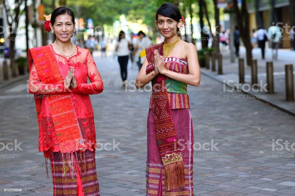 Traditional Indonesian clothes stock photo