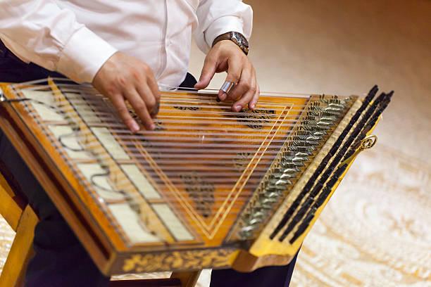 Traditional Instrument Qanun stock photo