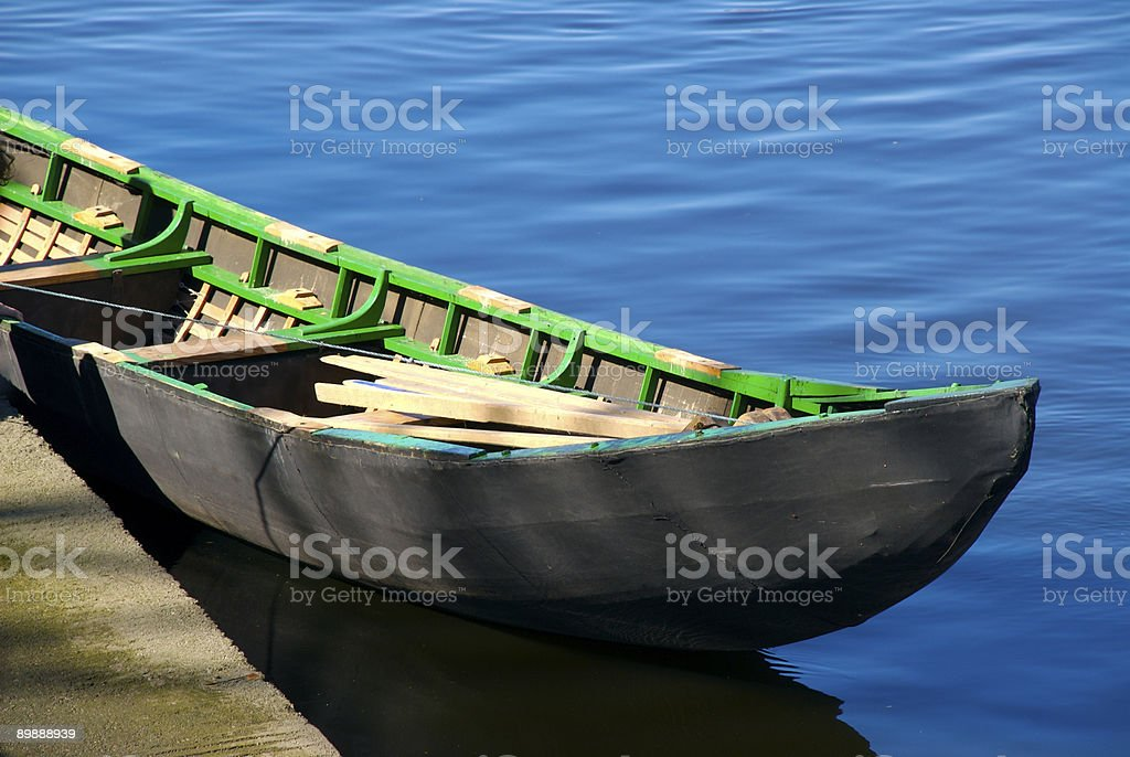 Traditional Irish Boat royalty-free stock photo