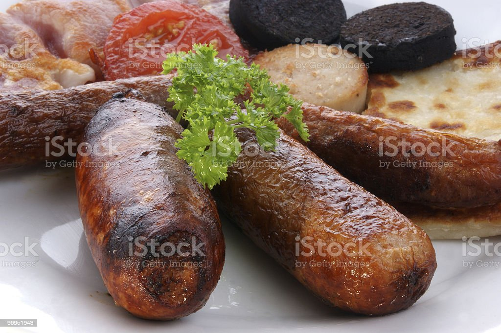 traditional irish breakfast on a large plate royalty-free stock photo