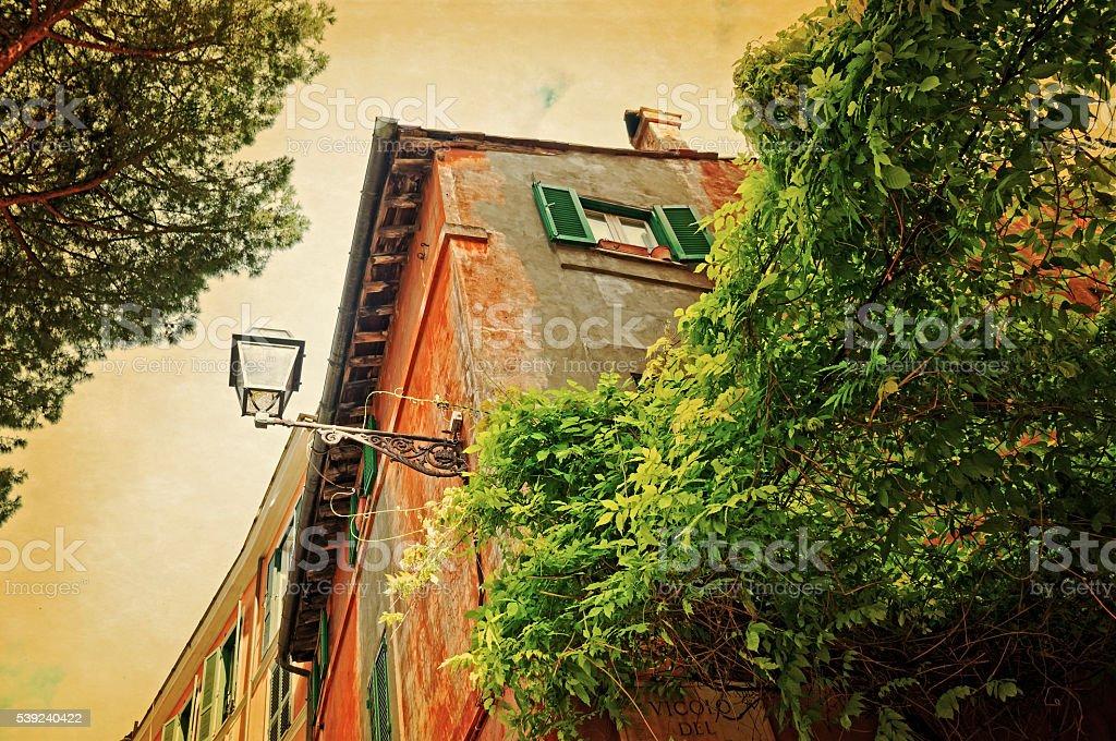 Traditional italian alley royalty-free stock photo