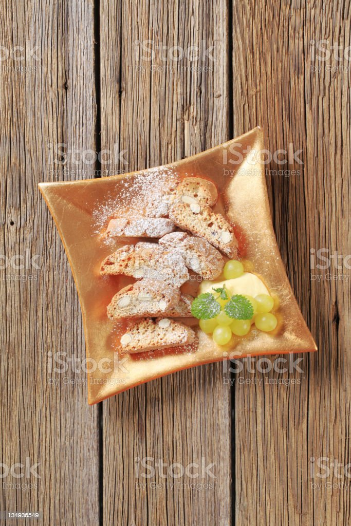 Traditional Italian almond biscotti royalty-free stock photo