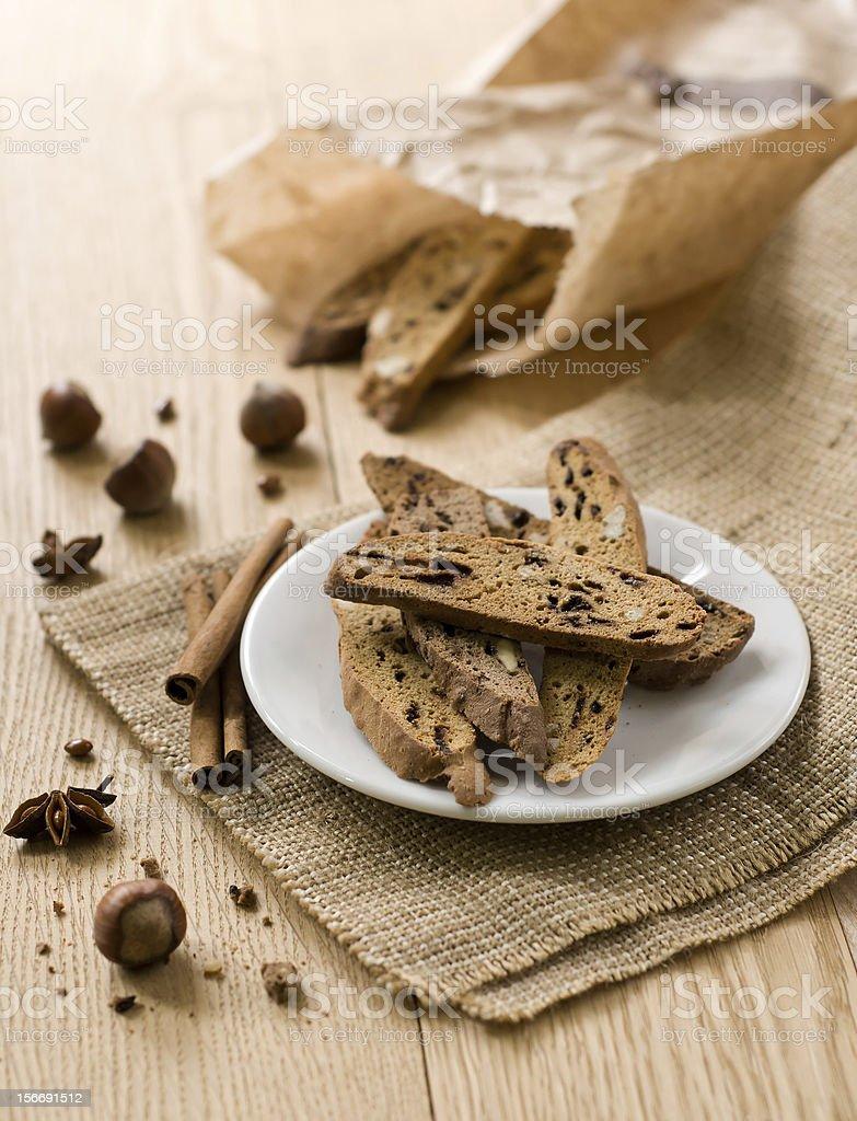 Traditional Italian biscotti royalty-free stock photo