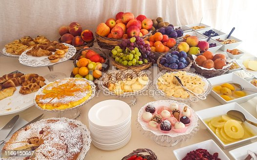 istock Traditional italian breakfast buffet 1166150657
