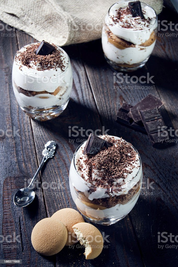 Traditional italian dessert with chocolate royalty-free stock photo
