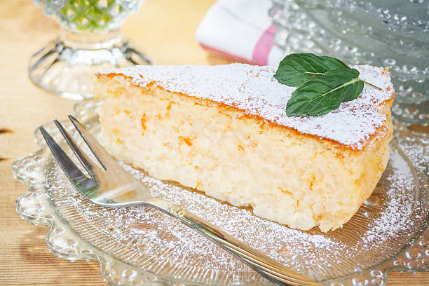 Traditional Italian Easter Rice Pie stock photo