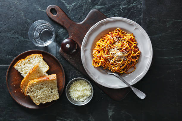 Traditional Italian meal spaghetti alla bolognese Traditional Italian meal spaghetti alla bolognese bolognese sauce stock pictures, royalty-free photos & images