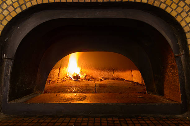 Traditional Italian pizza oven stock photo
