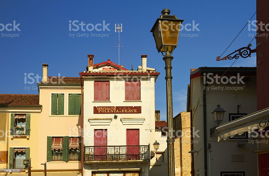 Traditional italian village Caorle. royalty-free stock photo