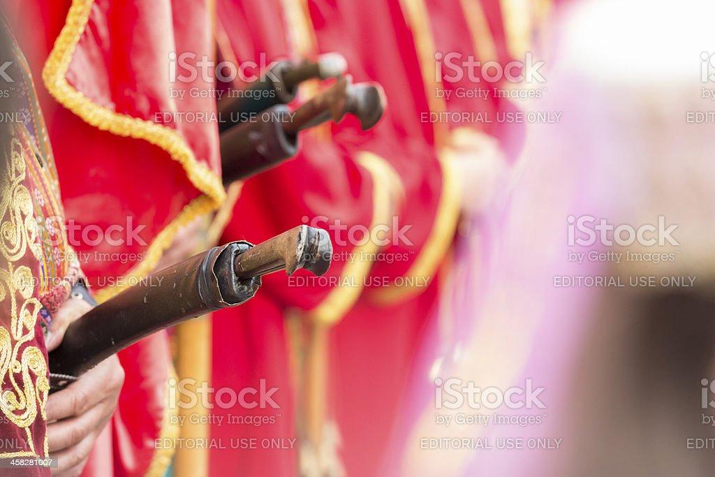 Traditional Janissary swords royalty-free stock photo