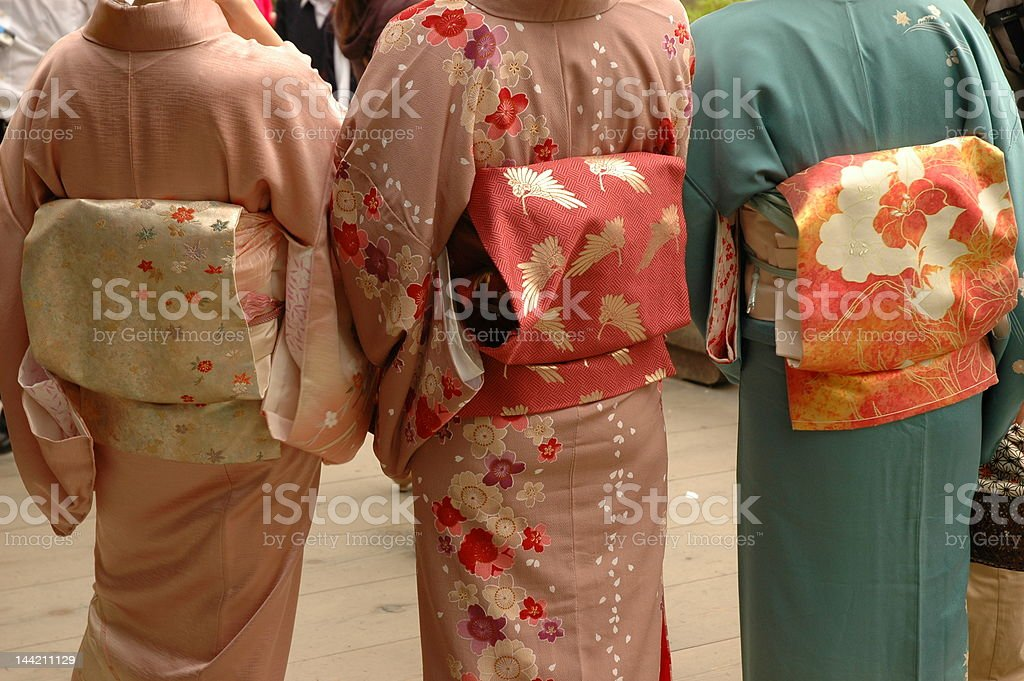Traditional Japanese Dress stock photo