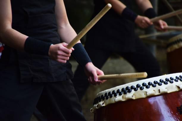Traditional Japanese drum – zdjęcie