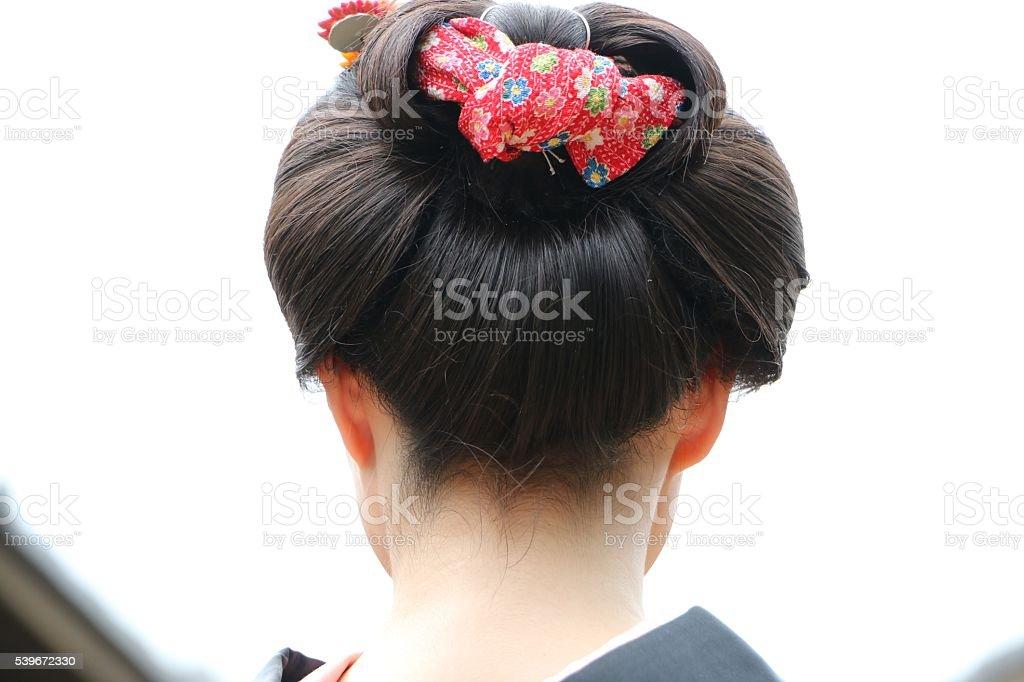 Traditionelle Japanische Frisur In Edoepoche Stockfoto Und Mehr