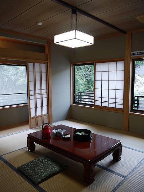 Traditional Japanese Hotel room stock photo