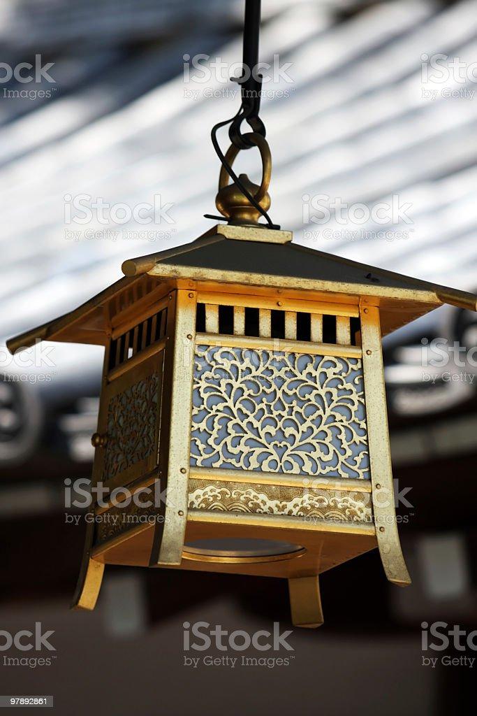 Traditional Japanese lantern royalty-free stock photo