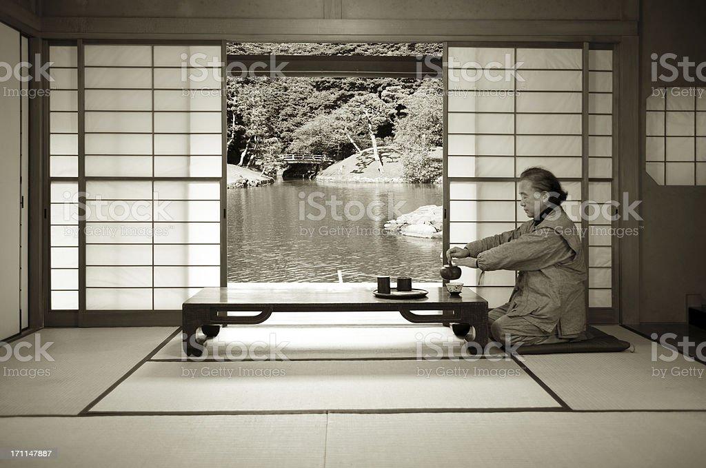 Traditional Japanese life royalty-free stock photo
