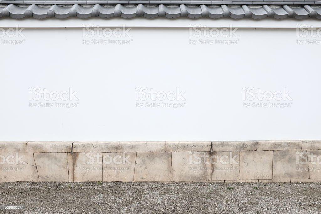 伝統的な日本のしっくいの壁 ストックフォト