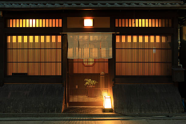 Traditional japanese restaurant stock photo