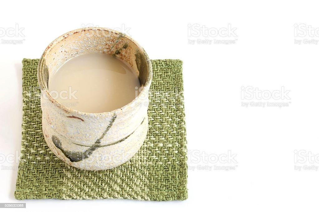 Traditional Japanese Rice Drink stock photo