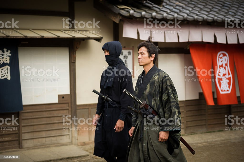 Traditional Japanese Ronin Samurai and Ninja stock photo