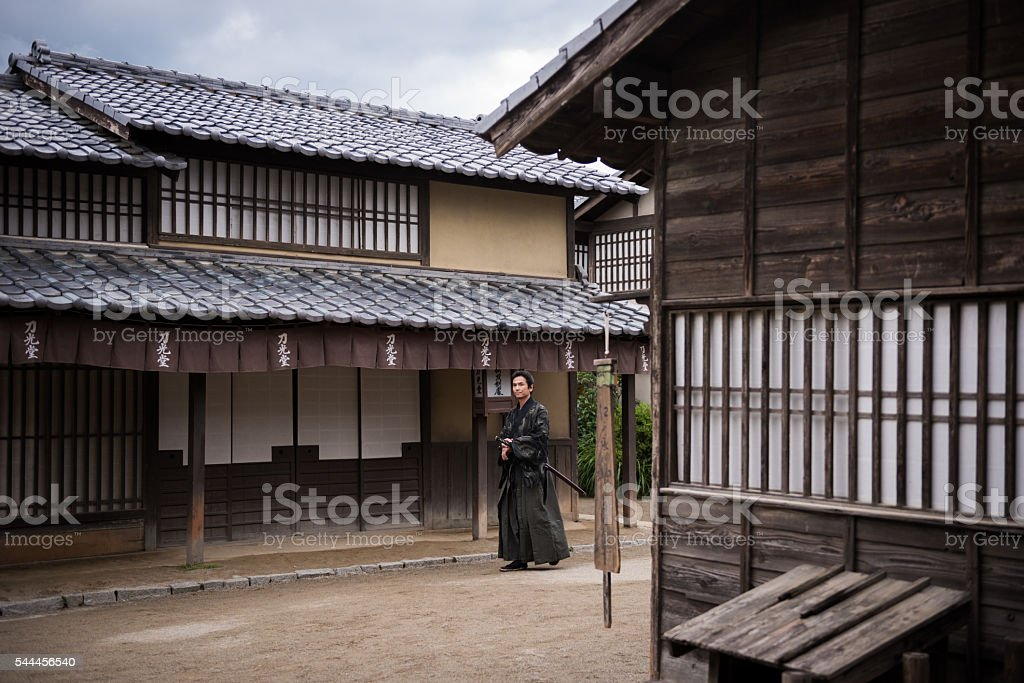 Traditional Japanese Ronin Samurai stock photo