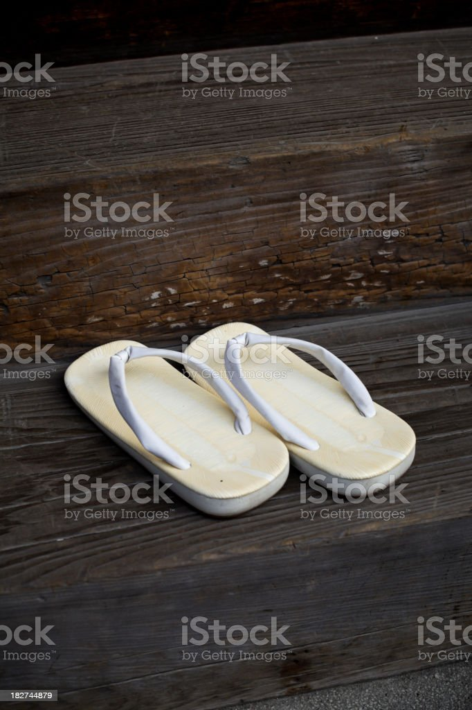 68366847862b Traditional Japanese Slippers Stock Photo   More Pictures of ...