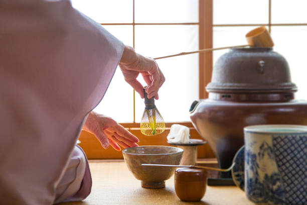 Traditional Japanese Tea Ceremony,Sado stock photo