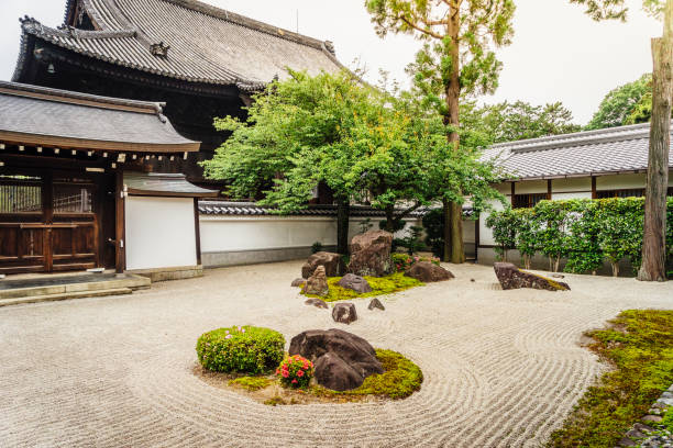 Traditional Japanese Temple In Kyoto Traditional Japanese Temple In Kyoto shinto stock pictures, royalty-free photos & images