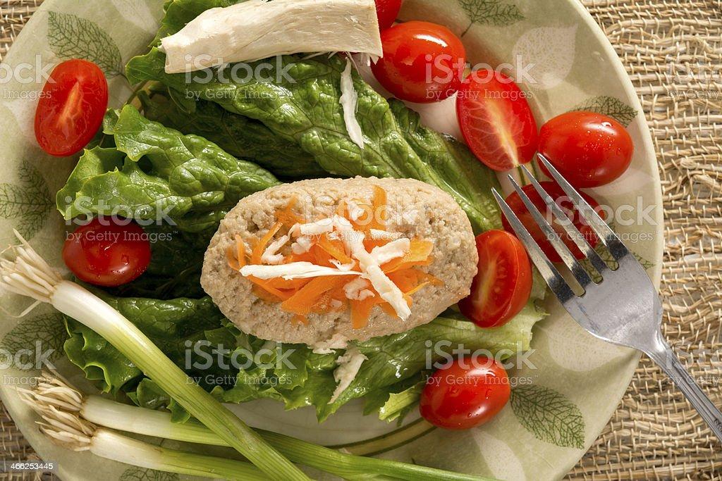 Traditional Jewish Passover Dish Gefilte Fish royalty-free stock photo