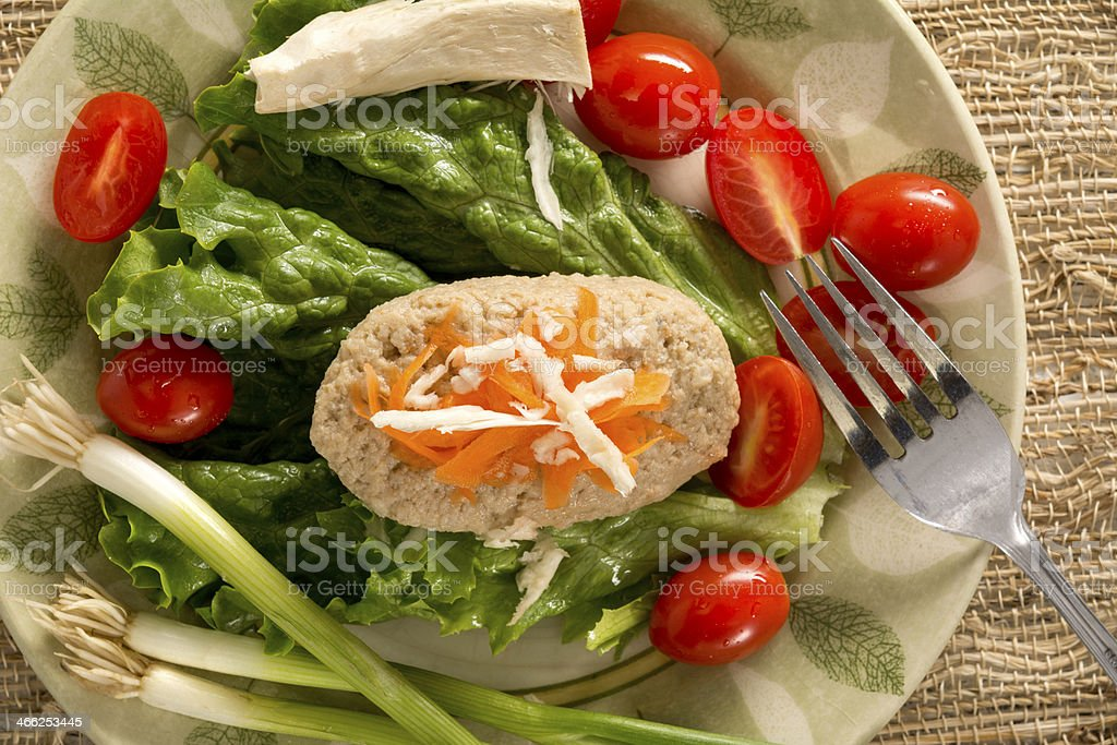 Traditional Jewish Passover Dish Gefilte Fish stock photo