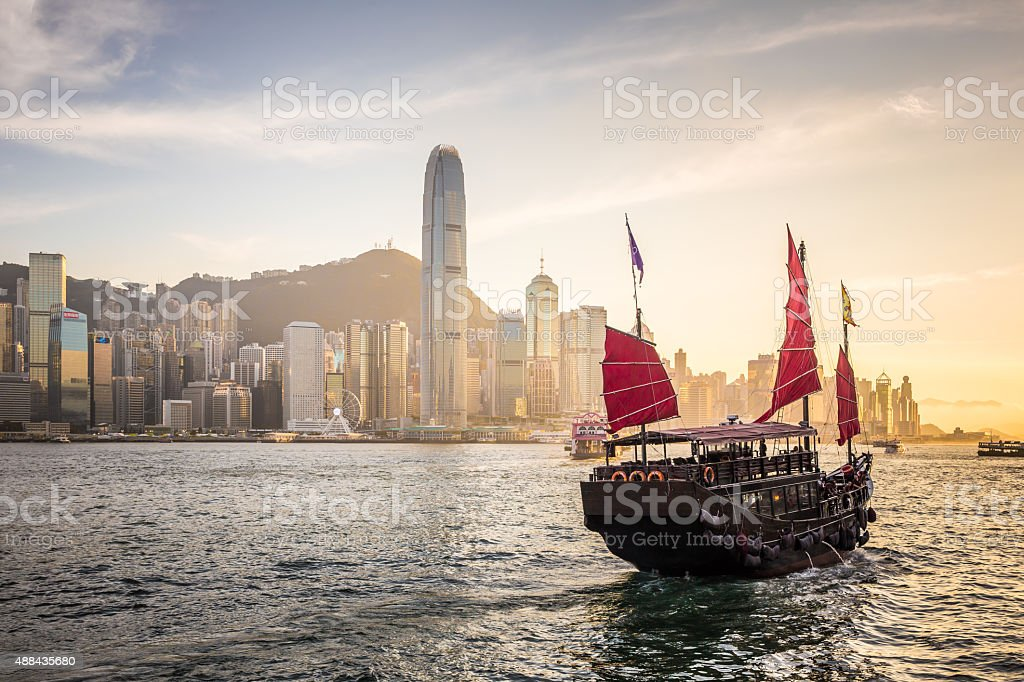 Traditional Junk Boat stock photo