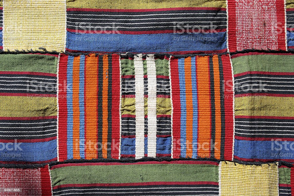 traditional kente cloth from ghana stock photo