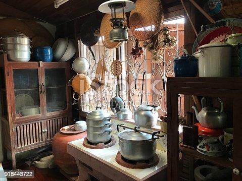 Traditional kitchen in Thailand.