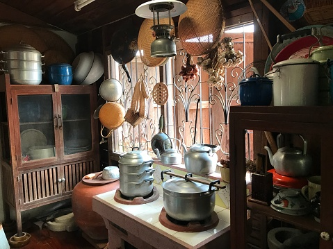 Traditional kitchen in Thailand.