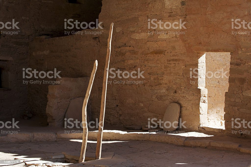 Traditional kiva stock photo