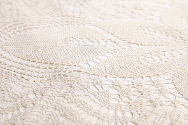 Traditional, knitted crochet Traditional, knitted crochet lace closeup lace textile stock pictures, royalty-free photos & images