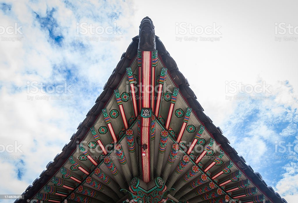 Traditional Korean Architecture - eaves stock photo