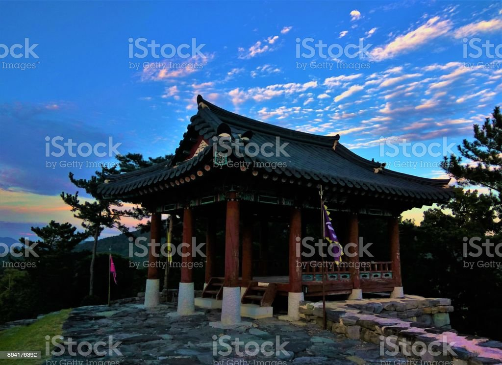Traditional Korean architecture royalty-free stock photo