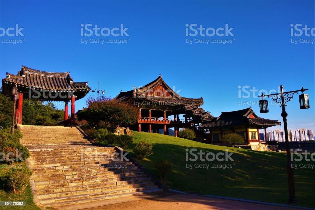Traditional Korean architecture, Yeongnamnu Pavilion royalty-free stock photo