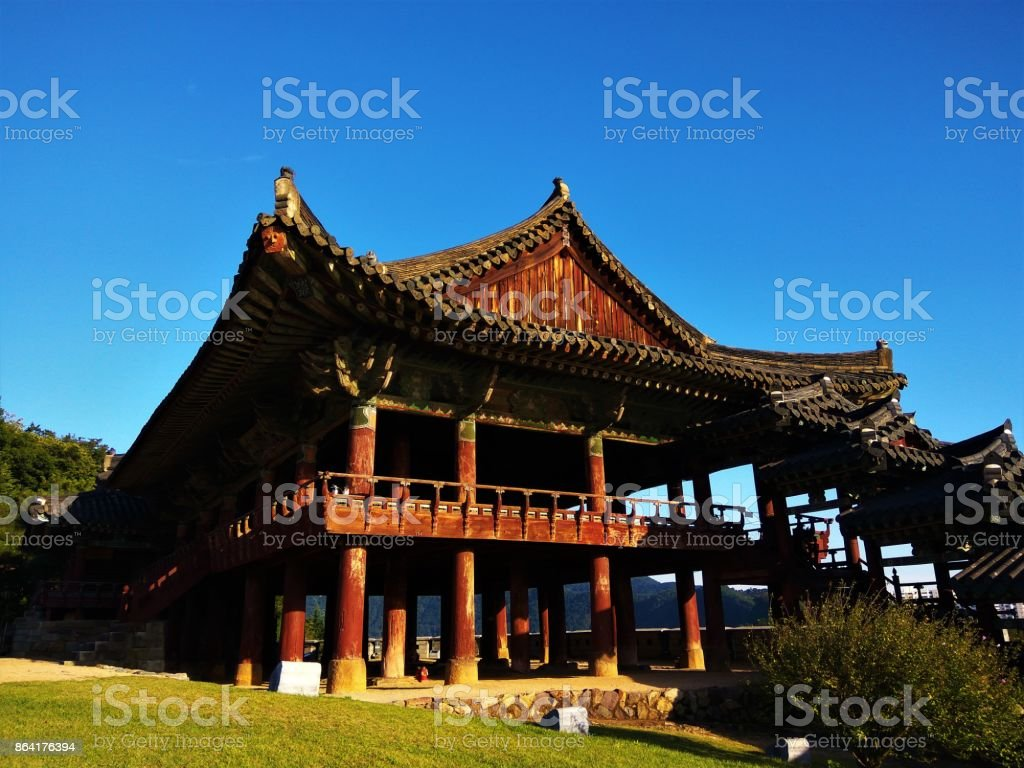 Traditional Korean architecture, Yeongnamnu Pavilion royalty-free stock photo