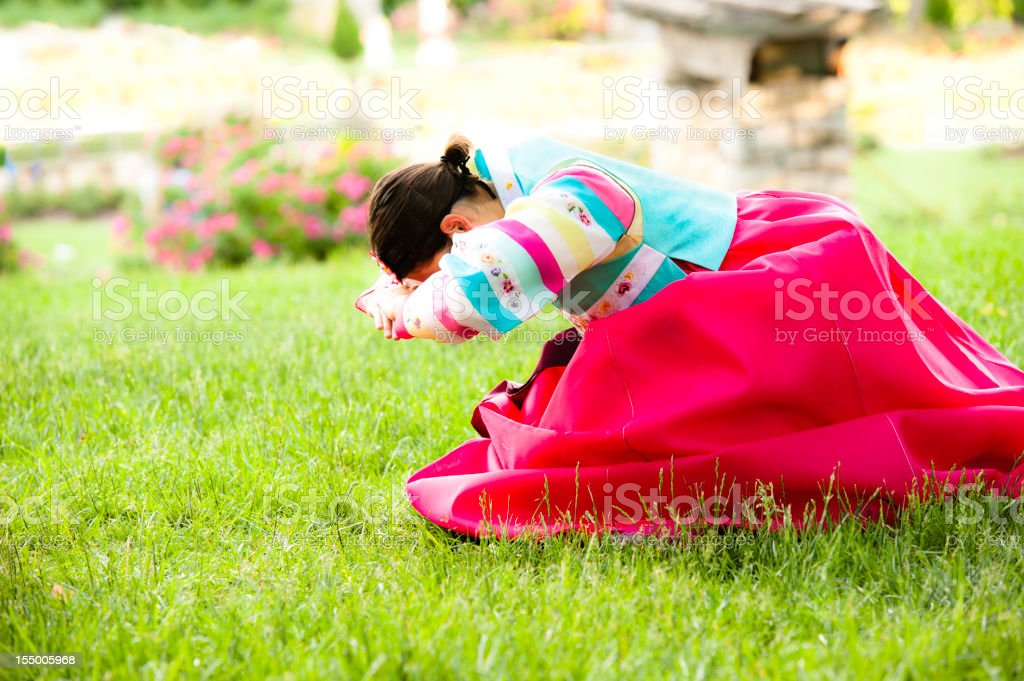 Traditional Korean Dress (High Key) stock photo