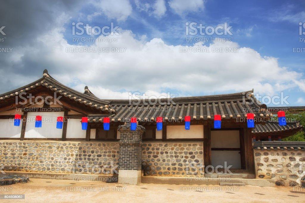 Traditional Korean House, Hanok stock photo