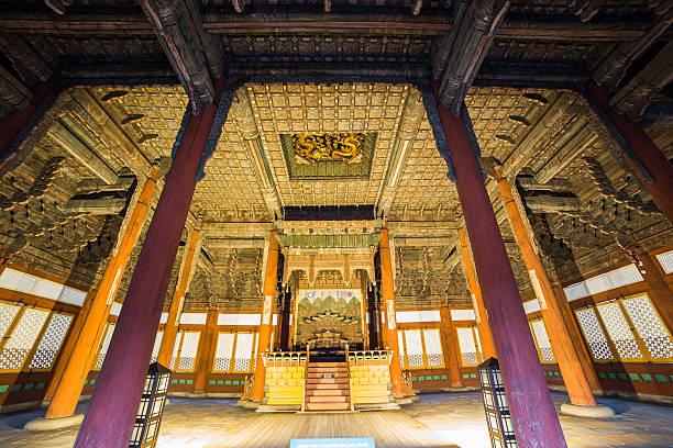 Traditionellen koreanischen Stil-Architektur in Seoul, Südkorea – Foto